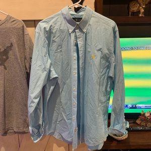 Blue Ralph Lauren XL CHECKERED BLUE